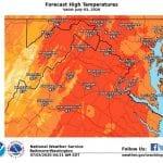 NWS High Temp Maryland 20200703