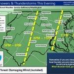NWS Maryland Storm Probability 20200730