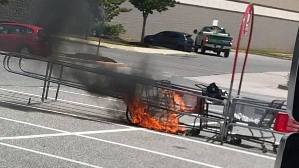 Shopping Cart Fire Target White Marsh 202007