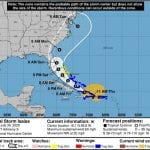 Tropical Storm Isaias Projected Path 20200730