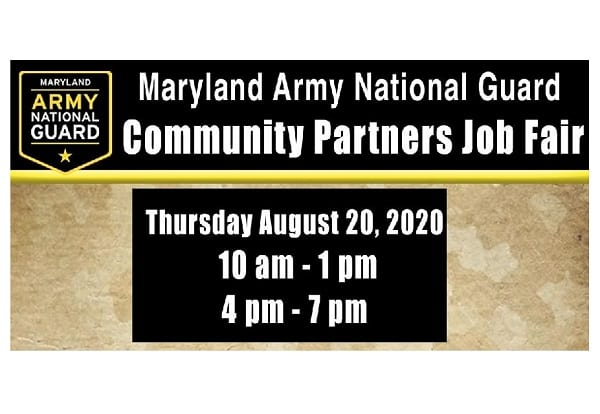 MD National Guard Community Partners Job Fair 20200806