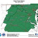 NWS Maryland Flash Flood Watch 20200812