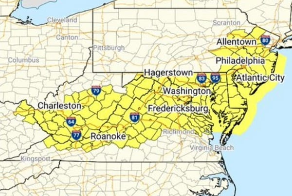 NWS Maryland Thunderstorm Watch 20200825