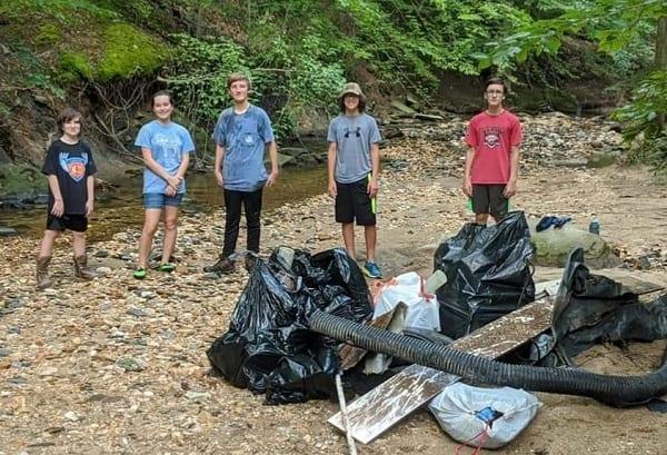 Scout Troop 124 Jennifer Branch Cleanup Carney 202008