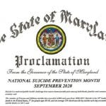 Maryland Suicide Prevention Month Proclamation