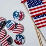 Election Vote Flag Buttons