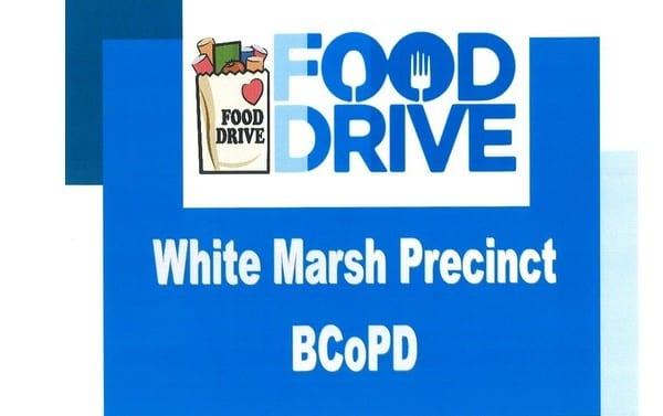 White Marsh Precinct Food Drive