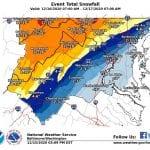 NWS Snowfall Forecast Maryland 20201215a