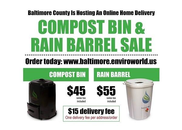 Baltimore County Compost Bin Rain Barrel Sale 2021