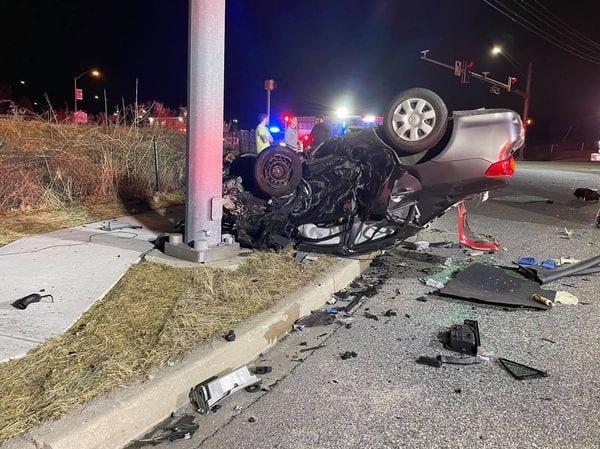 Accident Belair Road Honeygo Boulevard 20210309