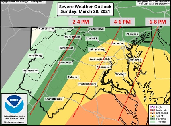 NWS Maryland Storms 20210328
