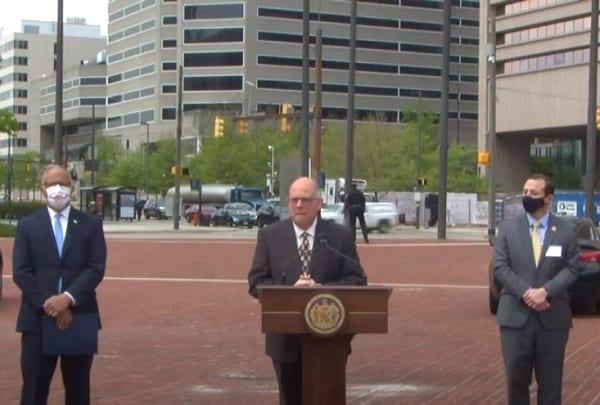 Governor Hogan Baltimore Announcement 20210419