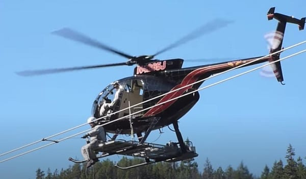 Helicopter Powerline Maintenance