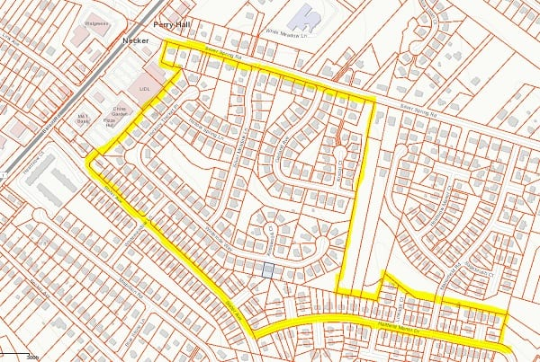 Rat Extermination Perry Hall Map 202104