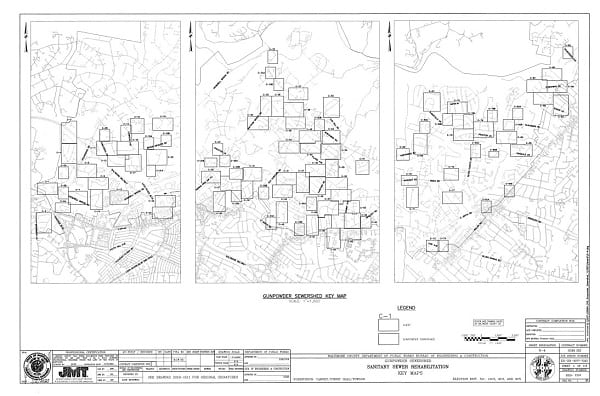 Baltimore County Sewer Relining Project Map 20210505