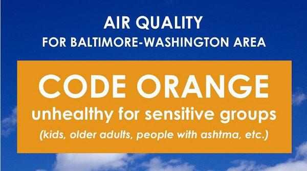 Code Orange Baltimore Washington Maryland Dept of Environment