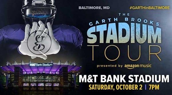 Garth Brooks Baltimore MandT Bank Stadium Concert 2021