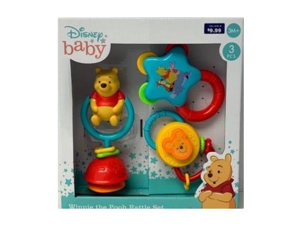 Walgreens Disney Baby Winnie the Pooh Rattle Set Recall