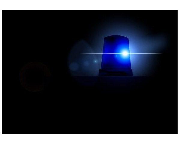 Blue Police Alert Light
