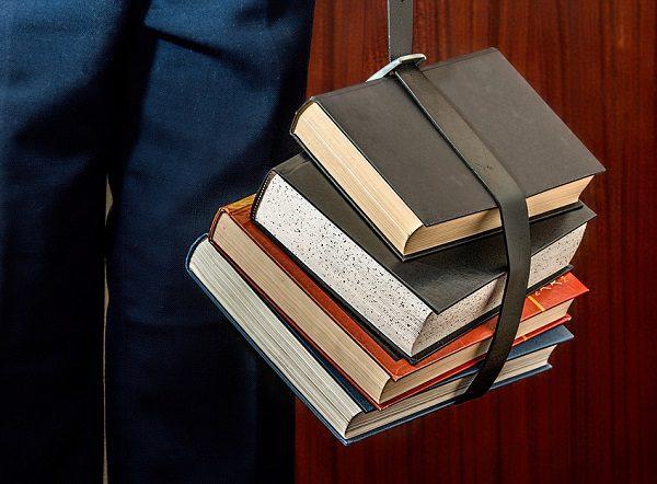 College University Student Studying Books
